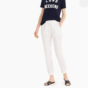 J Crew White Seaside Joggers Pants Cotton 8